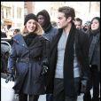 Blake Lively et Chace Crawford sur le tournage de Gossip Girl, le 7 janvier 2009 à New York