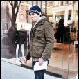 Chace Crawford sur le tournage de Gossip Girl, le 7 janvier 2009 à New York