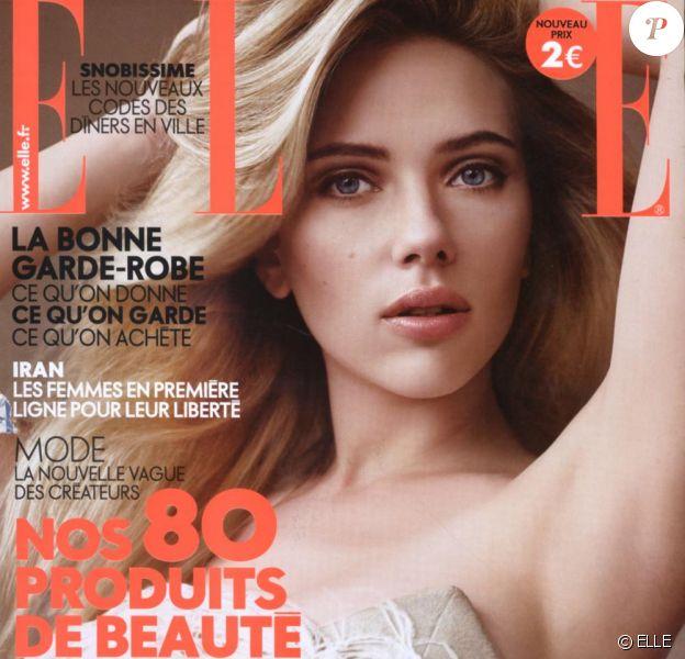 Scarlett Johansson en couverture de ELLE