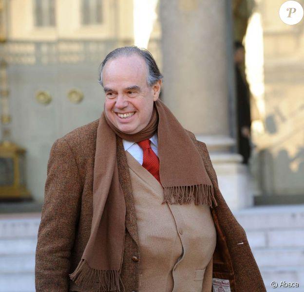 Frédéric Mitterand lors du premier conseil des ministres de l'année, le 5 janvier 2010 !