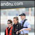 Le prince William profite de l'air de la mer à Auckland, Nouvelle-Zélande, le 17 janvier 2010