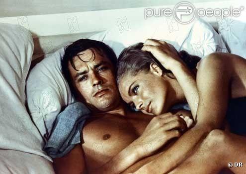 Alain Delon et Romy Schneider dans La Piscine de Jacques Deray (1968)