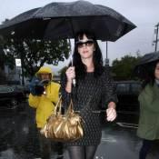 """Katy Perry, son chéri Russell Brand, et Courteney Cox... nagent en plein remake de """"Singin' in the rain"""" !"""