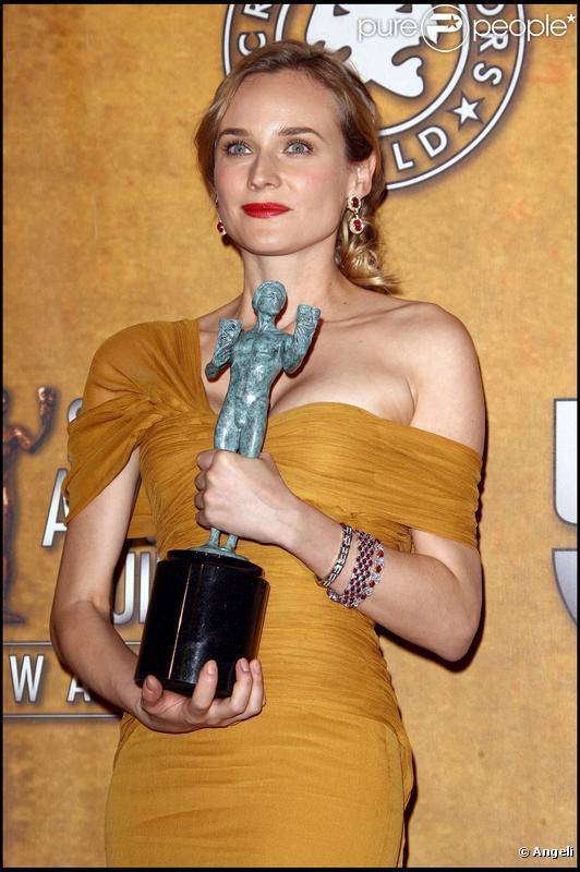 Diane Kruger vainqueur d'un prix aux SAG Awards à Los Angeles le 23 janvier 2010
