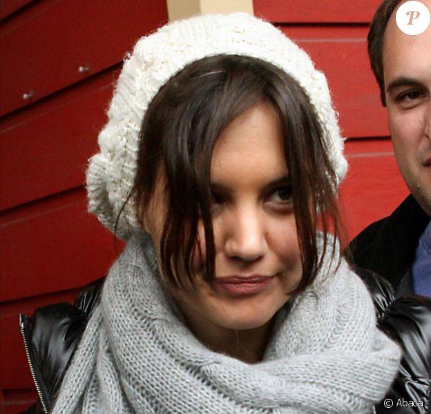Katie Holmes au festival de Sundance le 26 janvier 2010 avec un look négligé !