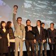 Anno Saul et le Grand Prix du Jury pour son film  The Door , à l'occasion de la cérémonie de clôture du 17e festival Fantastic'Arts, à Gerardmer, le 31 janvier 2010.