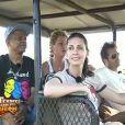 Francky Vincent, Adeline Blondieau, David Charvet et Jeane Manson profitent du safari dans la réserve de Zulu Nyala qui leur a été offert.