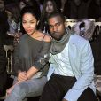Kanye West et Alexis Phifer au défilé de John Galliano