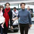 Tom Cruise et Katie Holmes avec leur fille Suri en décembre 2009 à Seville