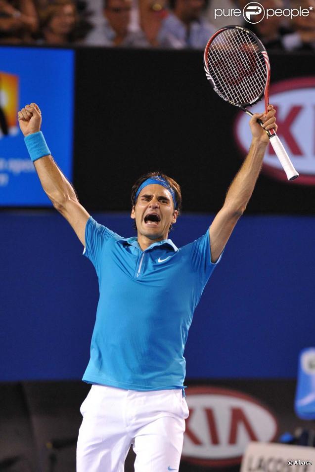 Roger Federer lors de la finale de l'Open d'Australie, le 31 janvier 2010 !