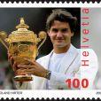 Le timbre Roger Federer édité par la poste suisse, en avril 2007 !
