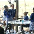 Jeudi 18 février dans l'après-midi : des écoliers sud-adricains viennent visiter la ferme