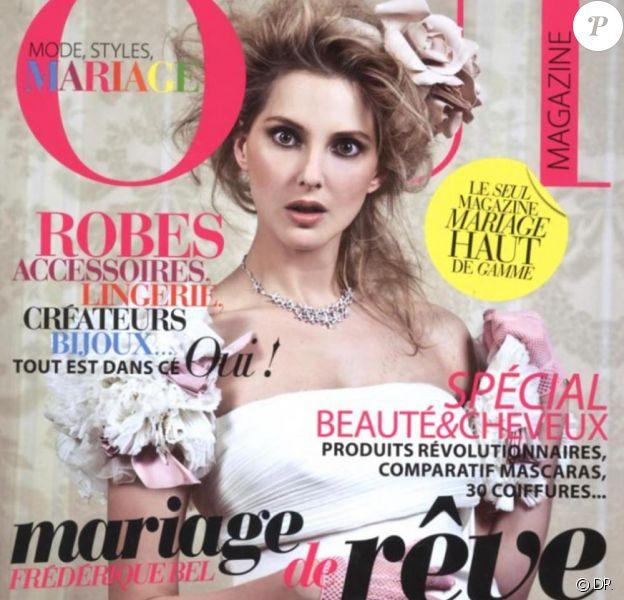 Frédérique Bel en couverture du magazine Oui