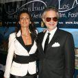 Andrea Bocelli et sa compagne Veronica Berti,  à la soirée d'ouverture du 5ème festival du film, de la mode et de l'art italien à Hollywood, le 1er mars 2010