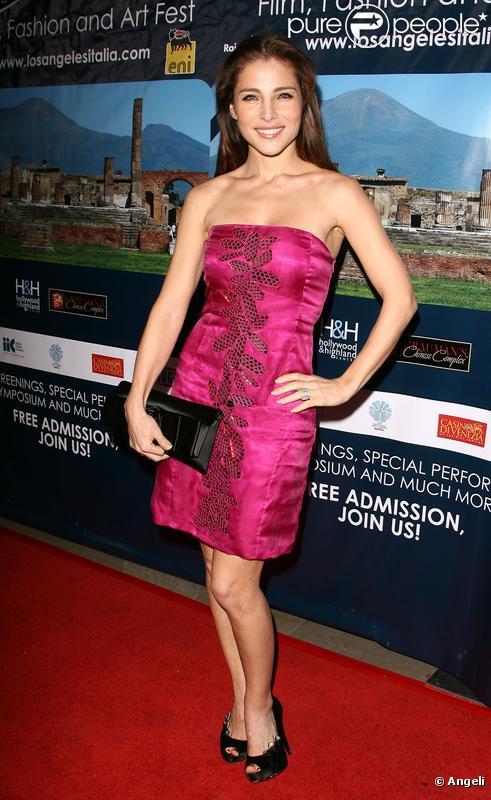 Elsa Pataky à la soirée d'ouverture du 5ème festival du film, de la mode et de l'art italien à Hollywood, le 1er mars 2010