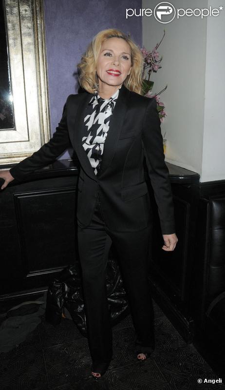 Kim Cattrall lors de la soirée donnée pour la première londonienne de Private Lives