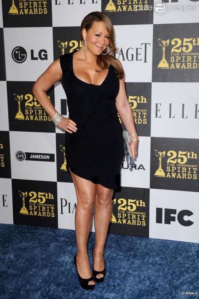 Mariah Carey aux 25e Film Independant Spirit Awards, le 5/03/2010, à Los Angeles.