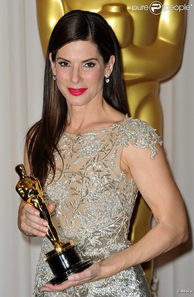 Sandra Bullock, prix de la meilleure actrice pour The Bling Side, dans la ''press room'' des Oscars le 7 mars 2010