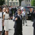 Michelle et Barack Obama, aux côtés de Nicolas et Carla Sarkozy