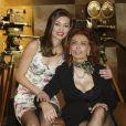 Sophia Loren et Margareth Made lors de la présentation de sa nouvelle série télé  Ma maison est pleine de miroirs  à Rome le 10 mars 2010