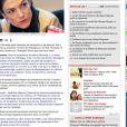 Prise d'écran du chat sur le site de Libération auquel participait Chantal Jouanno