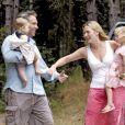 Kate Winslet et Sam Mendes, accompagnés de Joe Alfie et de Mia Honey, le 26 septembre 2004, en Italie.