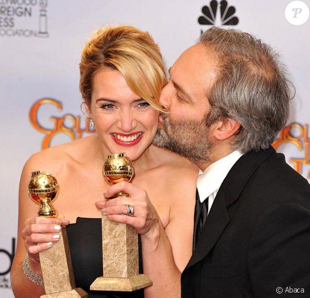 Kate Winslet et Sam Mendes aux Golden Globes 2009.