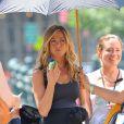 Jennifer Aniston sait se détendre en plein tournage