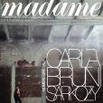Carla Bruni en couverture de Madame Figaro
