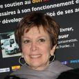 Catherine Laborde lors du Don'Actions 2010 du Secours populaire, au siège de l'association à Paris, le 26 mars 2010