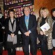 Zabou Breitman, Catherine Laborde, Julien Laupretre, Mylene Demongeot et Laam lors du Don'Actions 2010 du Secours populaire, au siège de l'association à Paris, le 26 mars 2010
