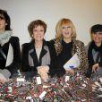 Zabou Breitman, Catherine Laborde, Mylene Demongeot et Laam lors du Don'Actions 2010 du Secours populaire, au siège de l'association à Paris, le 26 mars 2010