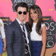 Les jeunes mariés Kevin Jonas et Danielle Deleasa, lors de la soirée des Kids' Choice Awards 2010.