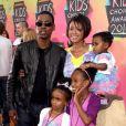 Chris Rock, venu en famille lors de la 23e cérémonie des Kids' Choice Awards, samedi 27 mars.