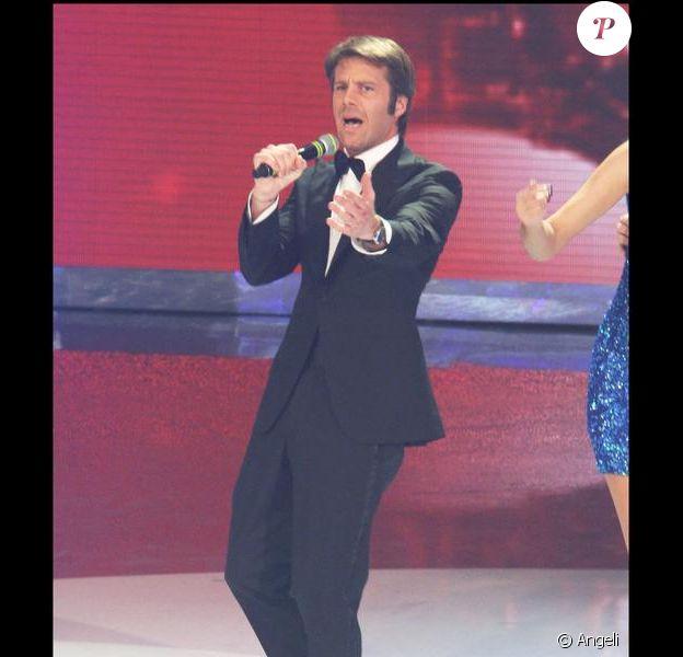 Emmanuel Philibert de Savoie durant l'émission de télé italienne Ciak si canta, le 26 mars 2010