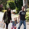 Kevin Dillon, sa femme Jane Stuart et leur fille Ava, à l'occasion de ses 3 ans, à Malibu, le 3 avril 2010.