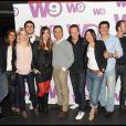 Karine Ferri, Daphné Desjeux, Alexandre Devoise, Stéphane Rotenberg et bien d'autres à l'anniversaire de la chaîne W9 au Six Seven, à Paris. 07/04/2010