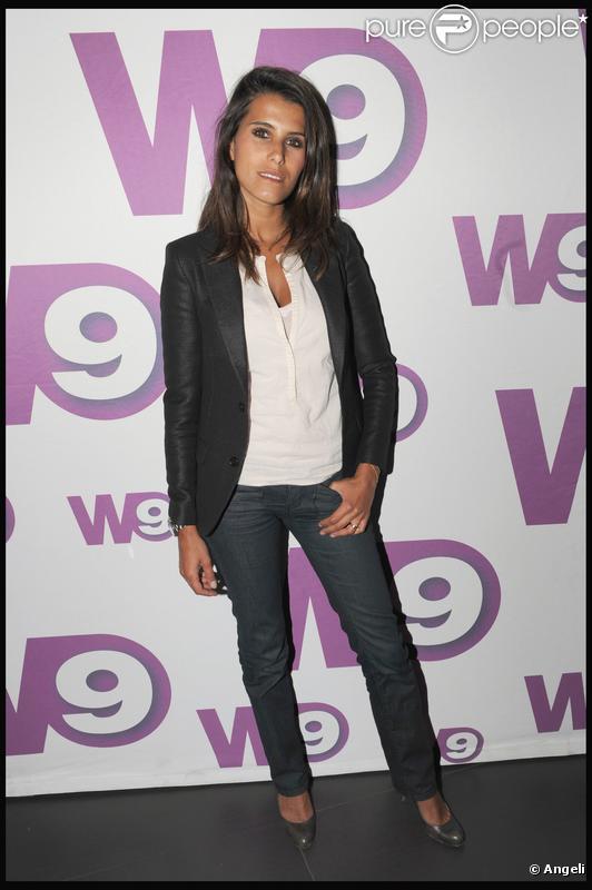 Karine Ferri à l'anniversaire de la chaîne W9 au Six Seven, à Paris. 07/04/2010