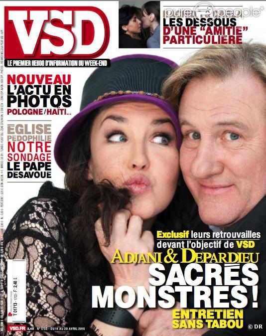 Isabelle Adjani et Gérard Depardieu : Quand les deux stars se font une superbe déclaration d'amour !