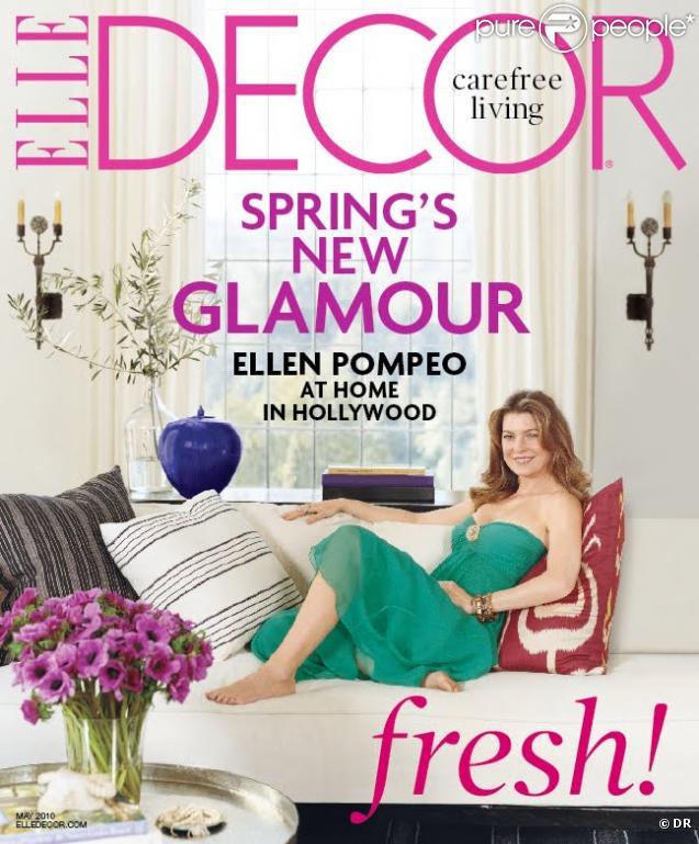 Ellen Pompeo en couverture du magazine  Ellen Decor  du mois de mai