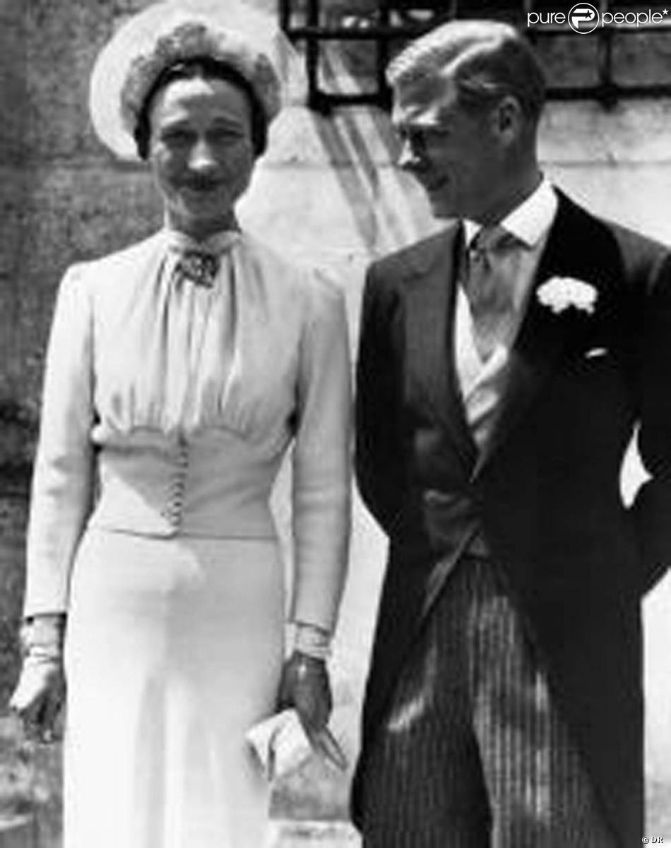 Wallis Simpson et le roi Edouard VIII.