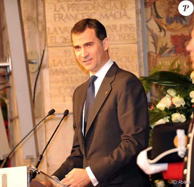 Le prince Felipe d'Espagne à la cérémonie d'obsèques de Juan Antonio Samaranch, au Palais de la Generalitat, Barcelone, le 22 avril 2010 !
