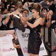 Jennifer Lopez lors de la première londonienne de The Back-Up Plan, le 28 avril 2010