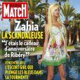 Zahia Dehar, l'escort girl par qui le scandale arrive, en couverture de  Paris Match  paru le 29 avril 2010 !