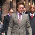 Robert Downey Jr. en costume-baskets à New York le 28 avril 2010