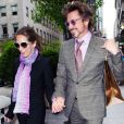 Robert Downey Jr. avec sa femme Susan à New York le 28 avril 2010