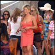 Jennifer Aniston sur le tournage de Just Go With It à Hawaï le 7 mai 2010