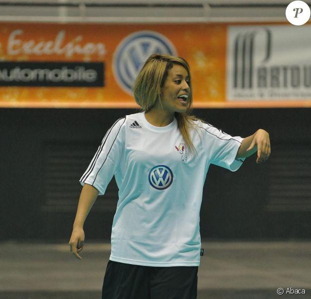 Amel Bent lors de la 5ème édition du Foot Concert au Palais des Sports de Lyon le 11 mai 2010