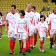 Pierre Casiraghi et Louis Ducruet au match de football caritatif organisé au Stade Louis II de Monaco. 11/05/2010