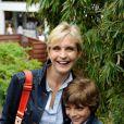 Melita Toscan du Plantier assiste aux matches de Roland-Garros, le mercredi 26 mai, à Paris.